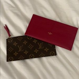 Authentic LV zip pouch and card holder